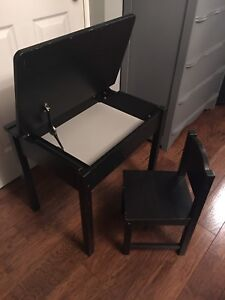Children's Ikea Sundvik Desk with hinged top and chair
