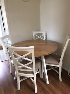 BEAUTIFUL WOOD DINING SET