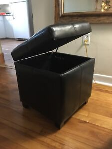 Faux Leather Storage Chest  & Stool