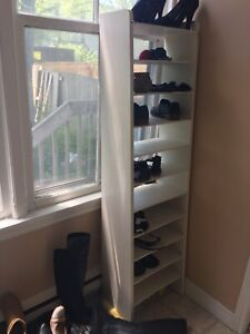 Solid pine hope chest and wooden shoe rack