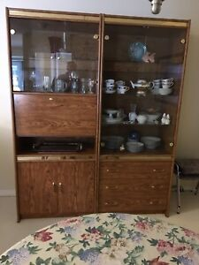 NEW PRICE!  MOVING.  3 Piece Wall/China Cabinet