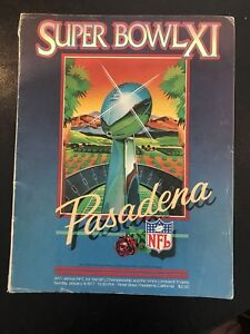 Super Bowl XI (1977) souvenir program.