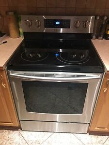 Stainless Sansung stove and Armana fridge