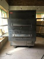 Marshall double deck rotisserie pizza oven ( gas )