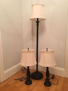 Lamp set - floor lamp and two table lamps