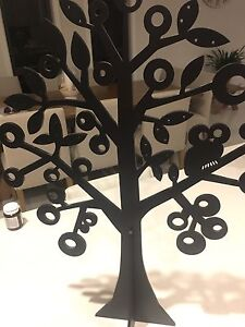 Large and Small Wooden Black Tree Set (2 Trees) Grange Charles Sturt Area Preview