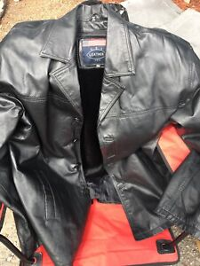 2XL Leather Men's Coat