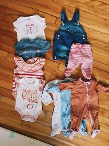 0-3 months baby girl clothes 10pc