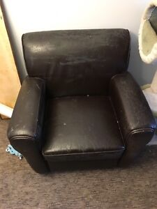 Free- faux leather chair