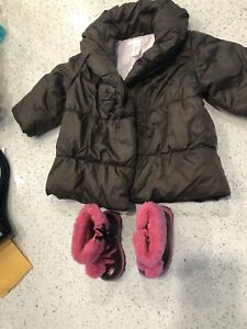 Girls 9-12 month jacket and boots
