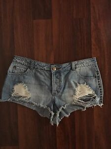 Denim ripped short shorts $15 Liverpool Liverpool Area Preview