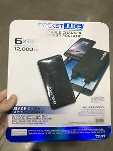 Portable Charger 12000 mAh Capacity, Super Fast (New)