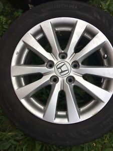 "Honda 16"" rim mags and tire 205 55 16"
