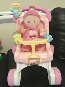 Fisher Price - Stroll & Play Walker (pram & doll) Largs Bay Port Adelaide Area Preview