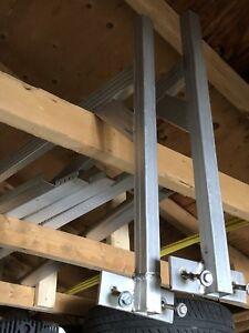 Rack en aluminium pour  remorque fermer