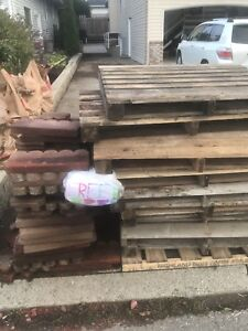 Free Used edging tiles and used pallets