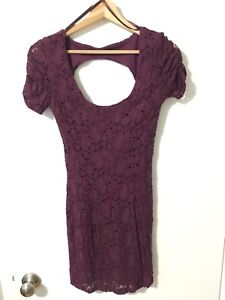 Urban Outfitters Purple Lace Bodycon Dress - Size XS