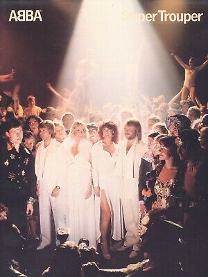 TWO ABBA SONGBOOKS - SUPER TROUPER and THE VISITORS