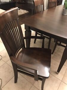 Solid wood like new kitchens dinning set