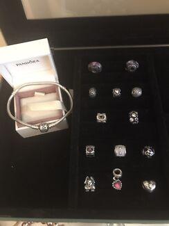 Pandora 19cm Moments Silver Bracelet & Charms