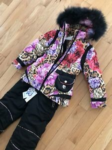 wonderful winter suit for a girl 6-8 years old!