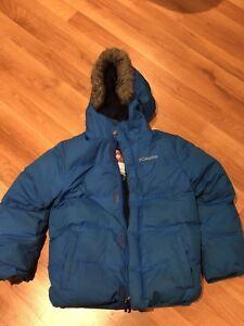 Blue Columbia winter Jacket - size 8 youth ( small )