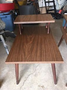 80's Two tier side tables  (Set of 2)