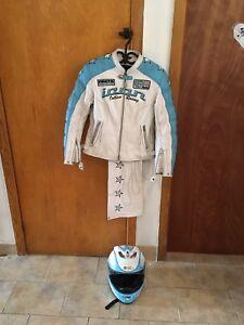 Manteau pantalon et casque de moto icon
