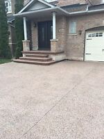 Spring specials exposed aggregate. Concrete driveways