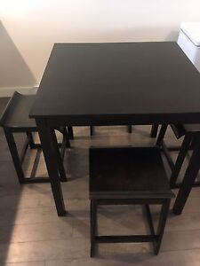 Kitchen Table with Bar Stools For Sale