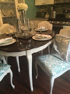 Gorgeous Antique French Provincial Shabby Chic Dinning Set