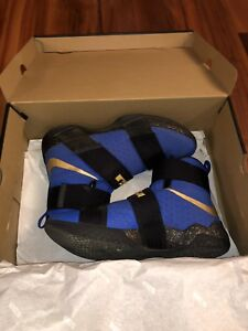 Customized Nike Lebron Soilder 10. Mint condition. In blue.
