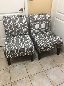 Accent chairs in mint condition,display cabinet