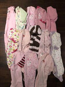 LOT 13 pyjamas 6 mois fille Pekkle, Carters