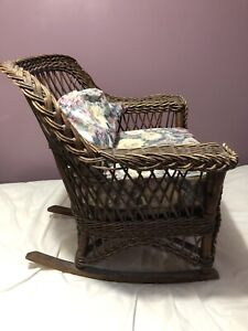 Antique Wicker Rocker very comfortable