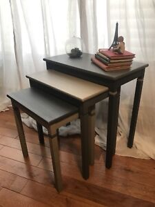 Refinished Set of 3 Nesting Tables