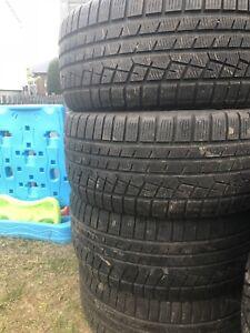 4 pneus hiver 255/45/18