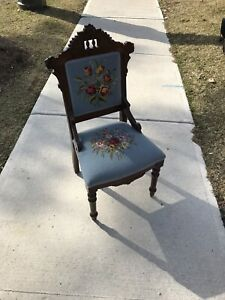 Antique Desk/Dining Chairs