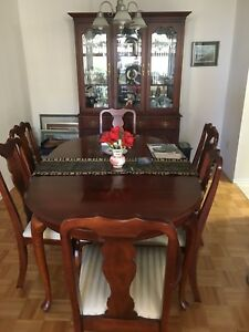 Solid cherry wood dinning set