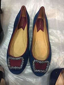 Brand new staccato blue suede leather flats Sydney City Inner Sydney Preview