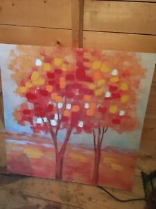 Fall wall hanging on canvas