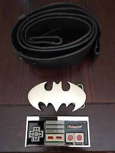 New Batman and NES Controller belt buckles