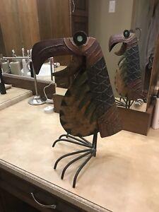 Oiseau décoratif fait d aluminium