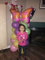Balloon decorating for birthdays,  parties etc