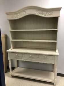 Hutch Buffet off White Solid Wood.