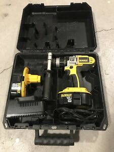 Dewalt 18V drill kit (2x batteries, handle, case, charger)