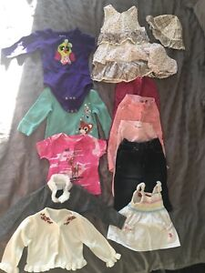 Lot of Baby girl clothes (6-18 months)