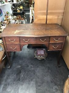 Mahogany Color tigerwood antique desk