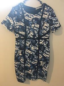 Teaberry Blue, Black & White Dress - Size 10 Hamersley Stirling Area Preview