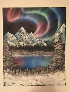 "16x20 Oil Painting ""Northern Light Splendor"""